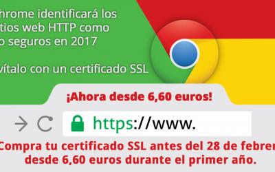 Google Chrome avisará en sitios web sin certificados SSL