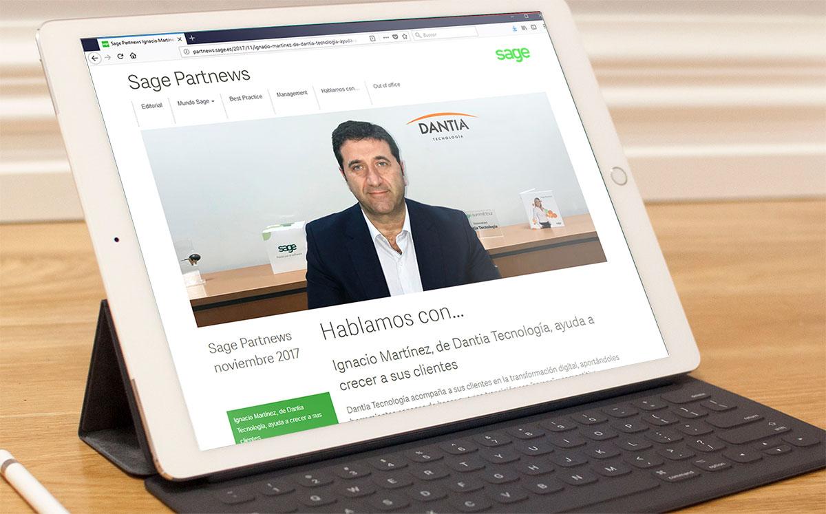 Entrevista a Ignacio Martínez en Sage Partnews