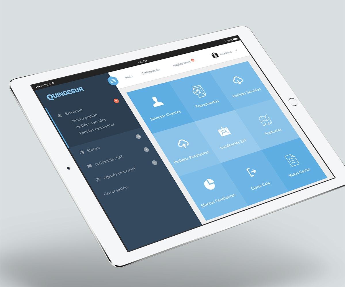 Quindesur confía en DANTIA para e desarrollo de su App Comercial sincronizada con Sage 200cloud para optimizar el servicio al cliente