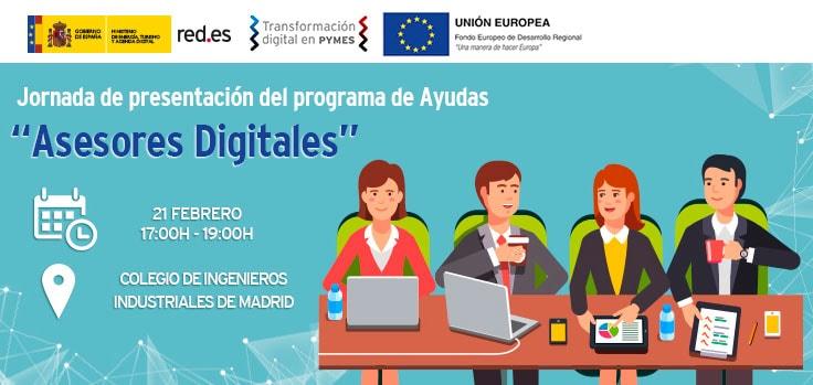 """Jornada de presentación del Programa de Ayudas """"Asesores Digitales»"""