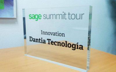 DANTIA Tecnología, Premio a la Innovación en el Sage Summit Madrid 2017