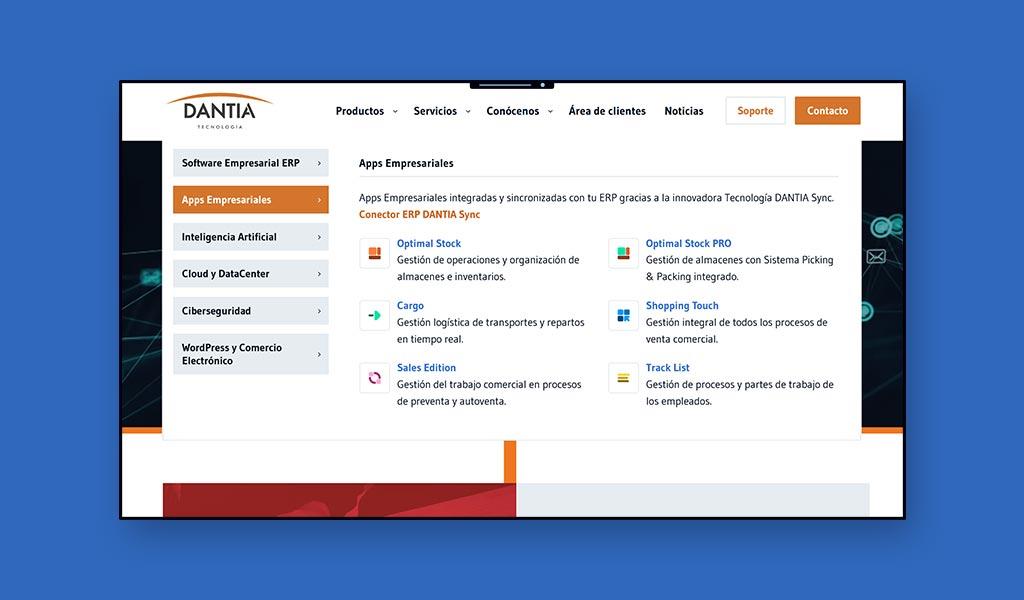 DANTIA Tecnología renueva la imagen de su web corporativa con una nueva línea de estrategia en UX