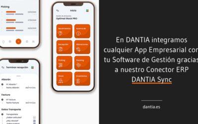En DANTIA integramos cualquier App Empresarial con tu Software de Gestión gracias a nuestro Conector ERP DANTIA Sync